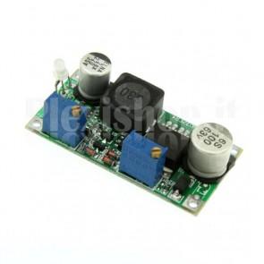 Stabilizzatore switching DC-DC regolabile sia in tensione che in corrente, 1.2-30Vcc 0.2-3A