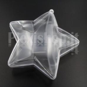 Stella 5 punte Trasparente Apribile 100 mm