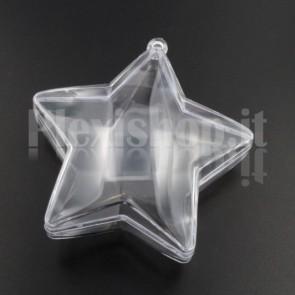 Stella 5 punte Trasparente Apribile 80 mm