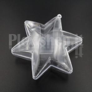 Stella 6 punte Trasparente Apribile 100 mm