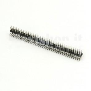 Strip di 40x2 contatti maschio piegati passo 2.54mm