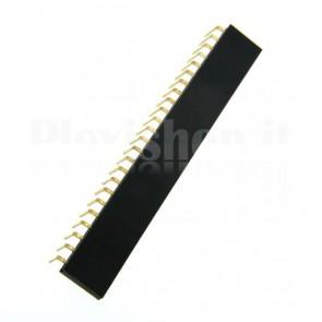 Strip di contatti angolari quadrati 1x24 femmina, passo 2.54 mm