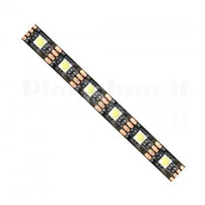 Striscia LED 5050 IP20 bianco caldo 5V PCB Bk