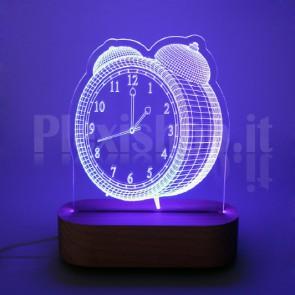 Lampada 3D Sveglia RGB