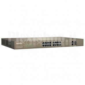 Switch PoE Desktop Web Smart 16 Porte 10/100+2GE+2SFP Combo, TEF1218P