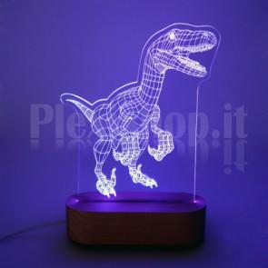 Lampada 3D T-Rex RGB