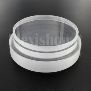 Tappo in plexiglass o-ring Ø 100(e)/90(i) mm