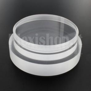 Tappo in plexiglass o-ring Ø 90(e)/80(i) mm