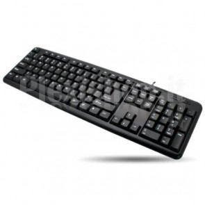 Tastiera PS2 105 tasti Standard, colore Nero