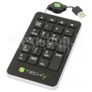 Tastierino Numerico USB Slim 23 Tasti Nero