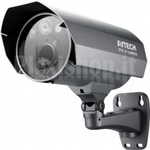 Telecamera IP PoE IR WDR da Parete Full HD 2MP IP67 AVM565