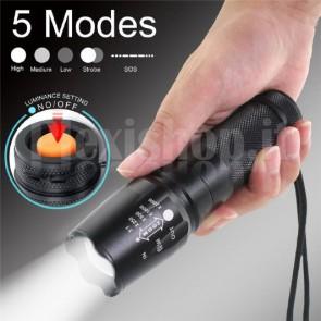 Torcia LED portatile Cree XM-L T6, 5000lm