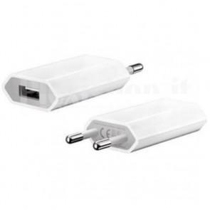 Trasformatore da Rete Italiana a USB Bianco