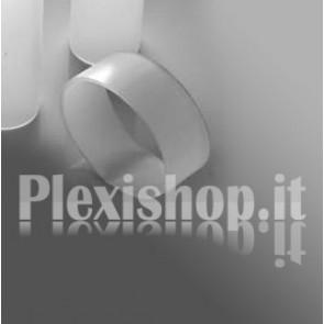 Ritaglio di Tubo plexiglass sat  Ø 80(e)/74(i) mm - L 500 mm