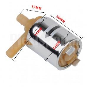 Valvola in plastica per acqua o aria a 12VDC, per tubi da 6mm