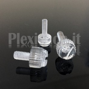 Vite plexiglass M6x16 - Testa Zigrinata