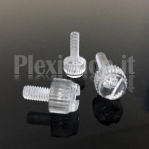 Vite plexiglass M6x8 - Testa Zigrinata