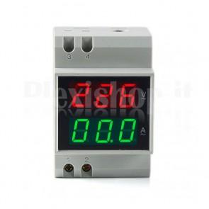 Voltmetro amperometro digitale 100A 200-400V