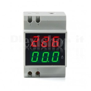 Voltmetro amperometro digitale 200A 200-400V