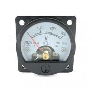 Voltometro Analogico da Pannello 0-300V CA