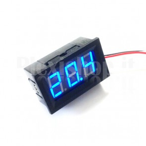 "Voltometro DC con display LED blu da 0.56"", 4.5-30V"