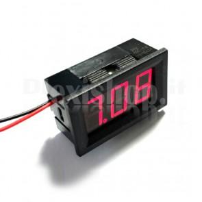 """Voltometro DC con display LED rosso da 0.56"""", 4.5-30V"""