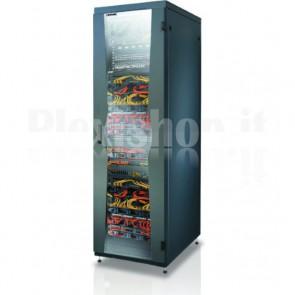 """Armadio NetRack 19"""" 600x600 24 Unità Nero da Assemblare"""