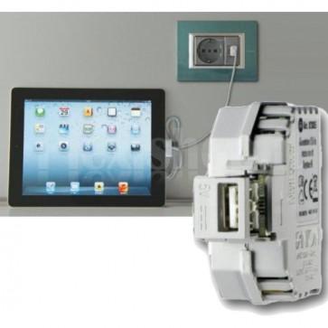 Alimentatore USB da incasso Keystone bianco
