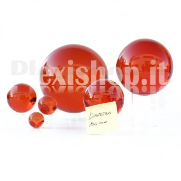 100 mm Red Acrylic sphere