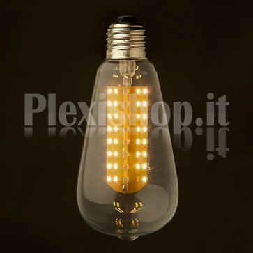 Lampadina Edison LED smd 3W - Retrò 64mm