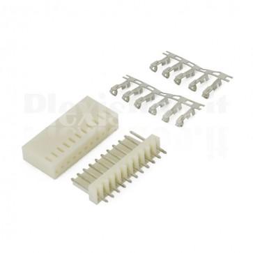 50 Connettori PCB 11 vie 2,54mm