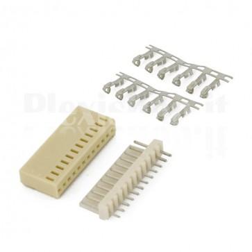 50 Connettori PCB 12 vie 2,54mm