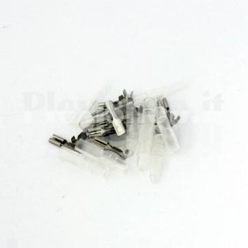 50 Terminali Faston femmina da 2.8mm con isolante