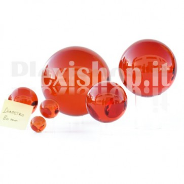 80 mm Red Acrylic sphere