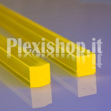 Acrylic Yellow Fluorescent Bar 20x20 mm