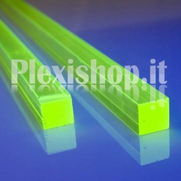 Acrylic Green Fluorescent Bar 50x50 mm