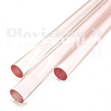 Clear Pink Acrylic Rod 20 mm