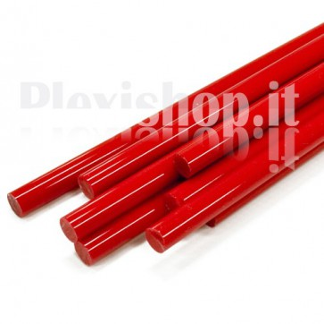 Red Acrylic Rod 10 mm