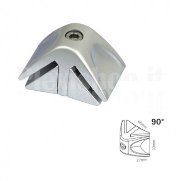 90 ° Connector for partition walls