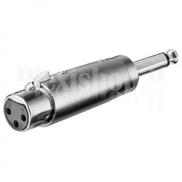 Adattatore XLR Cannon Femmina ad Audio 6,35mm Maschio Mono