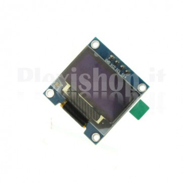 "Display OLED LCD Blu e Giallo 0.96"" SPI 6pin"