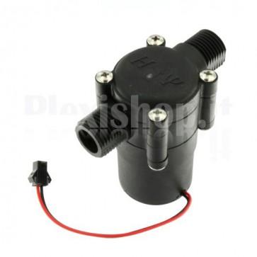 Generatore idroelettrico bassa pressione, G1/2 con batteria