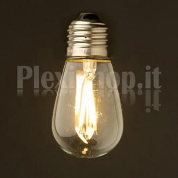 Lampadina Edison filamento LED 3.5W - Mini Retrò 45mm
