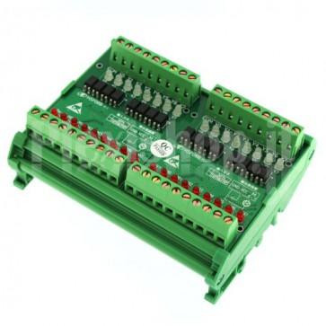 Modulo PLC301 Optoisolato a fotoaccoppiatori per PLC a 16 canali, 2.5A