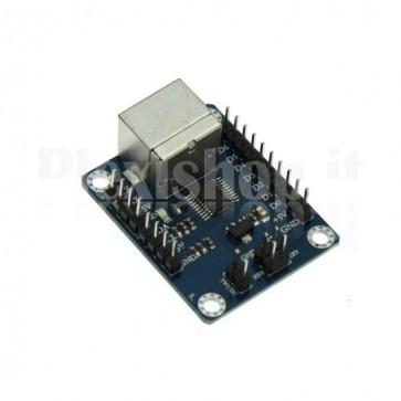 Modulo driver per tastiere PS2 a TWI/IIC - UART – INTERFACCIA PARALLELA