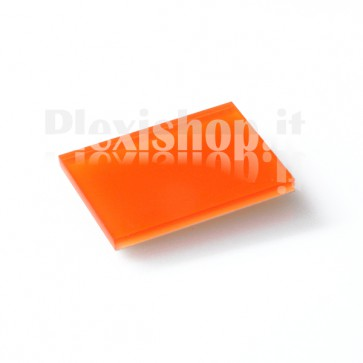 Bi-cast plexiglass - Orange/White