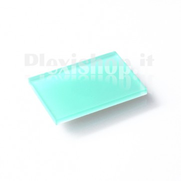 Bi-cast plexiglass - Mint/White