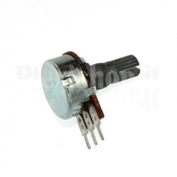 Potenziometro rotativo 100K montaggio PCB - B100K