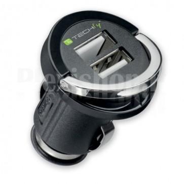 Adattatore Compatto 2 x USB per Presa Accendisigari 2100mAh
