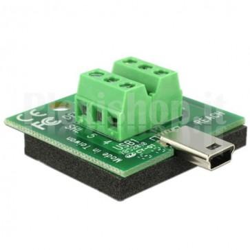 Adattatore Mini USB Maschio Terminal Block 6 pin